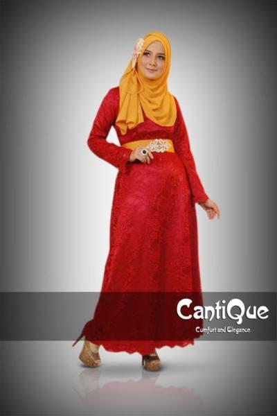 inspirasi CantiQue model baju gamis modern untuk pesta