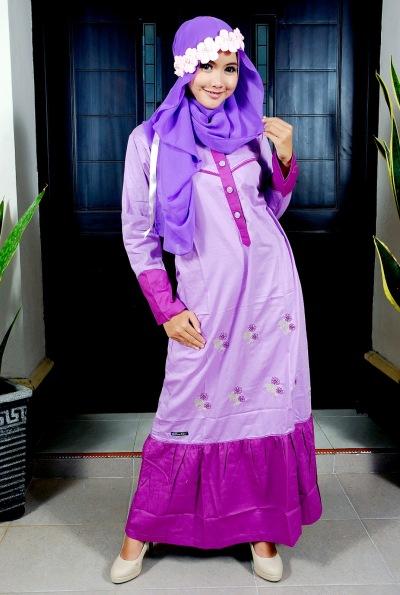 Gaun Pesta Muslim Brokat
