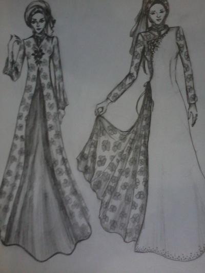 Gaun Pesta Muslim Modern Dian Pelangi