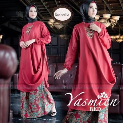 busana-muslim-wanita-terbaru-2017-gambar-gamis-modern-terbaru-kombinasi-batik-pesta-elegan