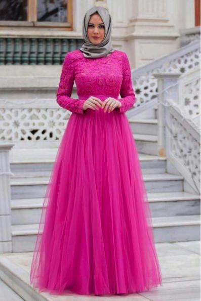 busana-muslim-wanita-terbaru-2017-model-baju-gamis-brokat-pesta-untuk-orang-gemuk-agar-terlihat-lansing
